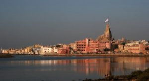 magnificent view dwarka temple