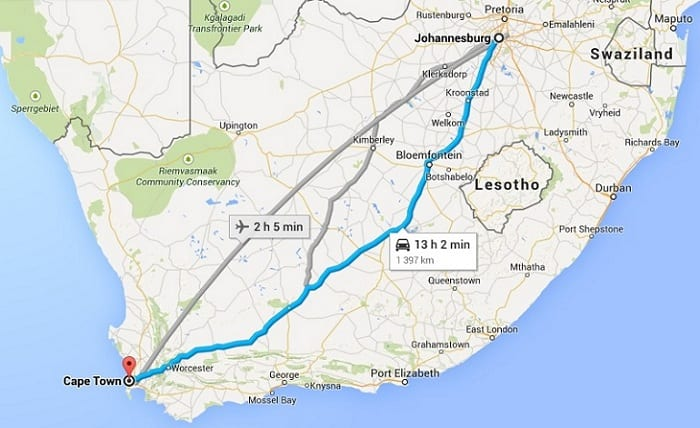 Cape Town to Johannesburg