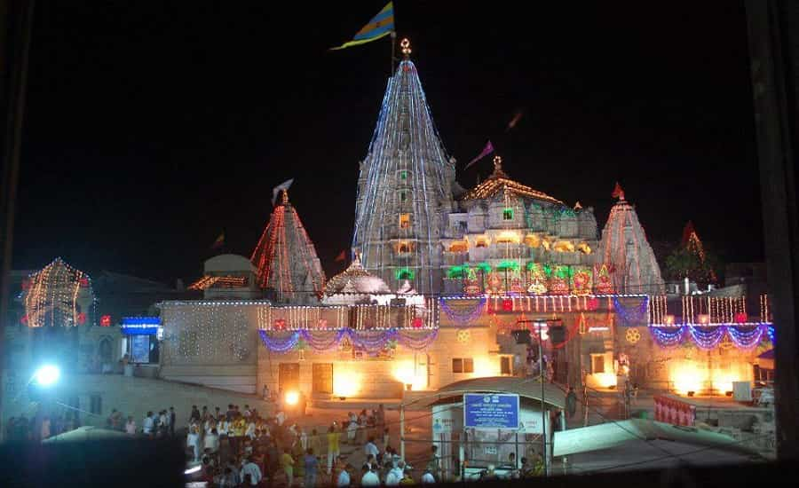 Janmashtami Jagat Mandir Light Decoration - Dwarka