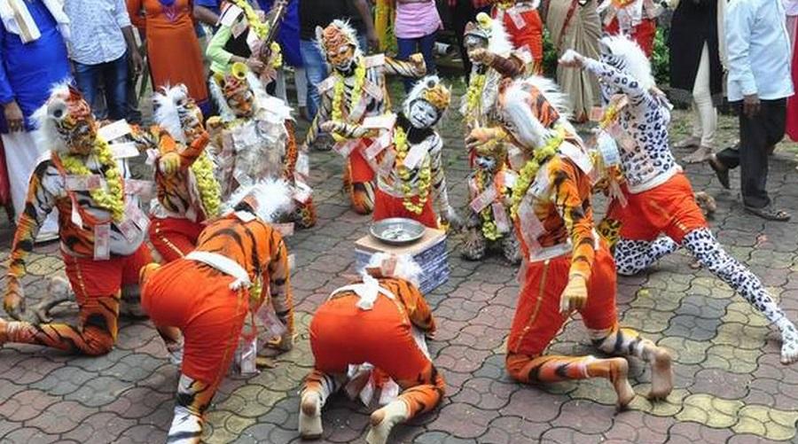 Huli Vesha tiger dance Udupi