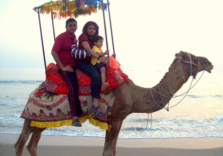Camel ride at Somnath