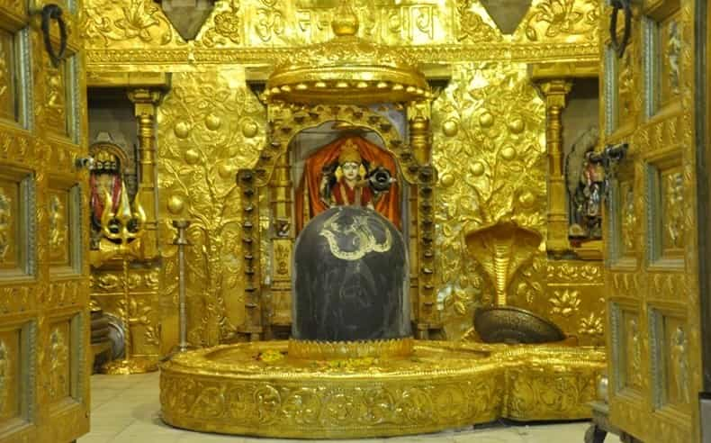 Gold plated Somnath Jyotirlinga