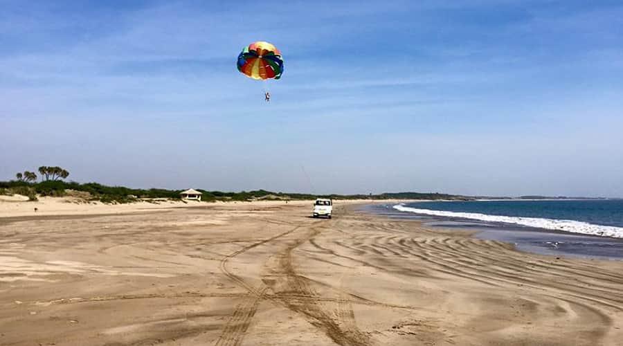 Parasailing at Ghogla Beach, Diu