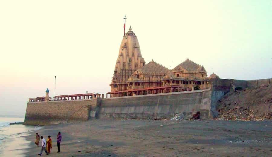 Somnath Temple from Somnath Beach